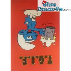 "Smurf Poster ""T.G.I.F./ Thanks God It's Friday"" NR. 7614 (49x34 cm/ 1981)"