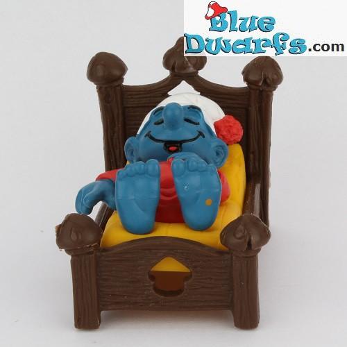 Puffo Con Letto.40240 Puffo Che Dorme Su Letto Super Puffo Bluedwarfs