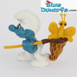 40209: Butterfly Catcher Smurf *yellow/brown* (Supersmurf)