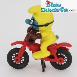 40231: Motocrossrijder Smurf *geel* (supersmurf)