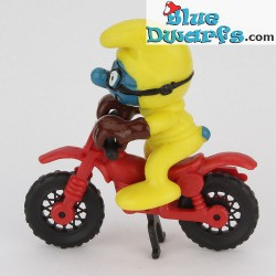 40231: Pitufo de motorcross *amarillo* (Superpitufo)