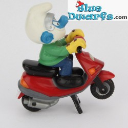 40253: Motor Scooter Smurf red (Supersmurf/ MIB)
