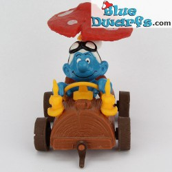 40232: Smurf in treetrunk Car (Supersmurf in plastic bag)