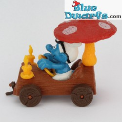 40232: Smurf in treetrunk Car (Supersmurf/ MIB/NEW STYLE)