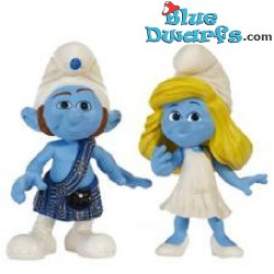 Mc Smurf and smurfette *Jakks Pacific* (+/- 7cm)