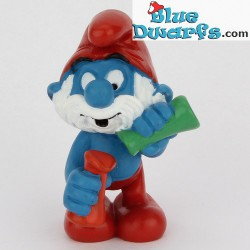 20164: Papa smurf with Lab Glasses Matte paint version (green/red)
