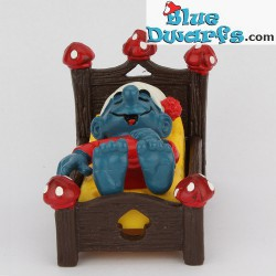 40240: Smurf in bed *red mushrooms* (Super smurf)