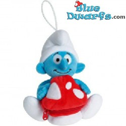 Smurf Plush: Treasure bag with zipper  (Jemini+/- 20 cm)