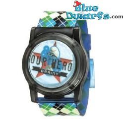 Puffo con i vetri  *orologio* LCD