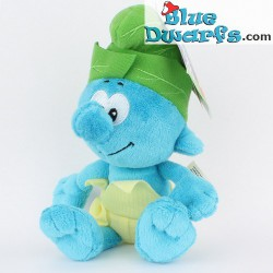 Smurf Plush: Jungle smurf *Jakks Pacific* (beaniebag/+/- 20 cm)