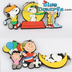 6 x Schleich *porte-clés* (peanuts/ Snoopy 50901-50906)