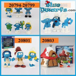 ALL 2017 SMURFS: 6 lucky smurfs + 8 The lost village movie smurfs + smurf house