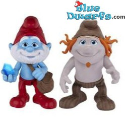 Papa smurf and Hackus *Jakks Pacific* (+/- 7cm)