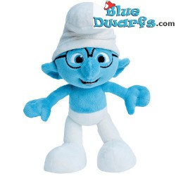 Smurf Plush: Brainy smurf MOVIE (+/-45 cm)