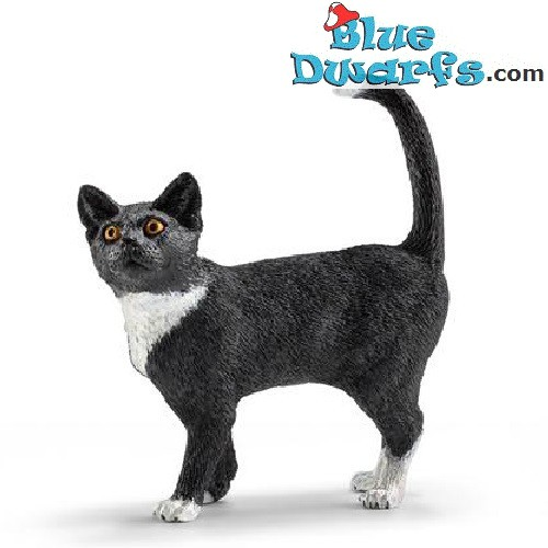 Schleich Animals: Black cat standing (13770, +/-5,5x 2x 6cm)