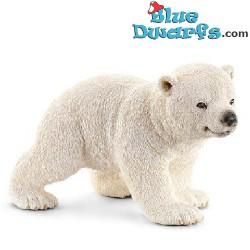 Schleich animals: Polar bear cub walking (14708, +/- 6,5x 4x 4cm)