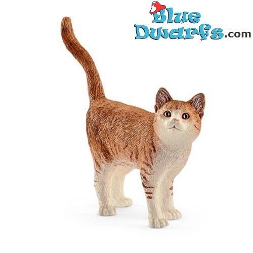 Schleich animals: Red cat (13836, +/-  6,6x 1,7x 5,6cm)