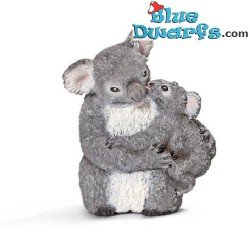 Schleich animals: Koala bear with cub (14677, +/- 3x 2,5x 4cm)