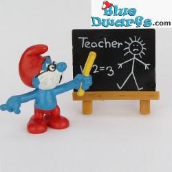 40224: Papa Schlumpf mit  Schultafel *Teacher*