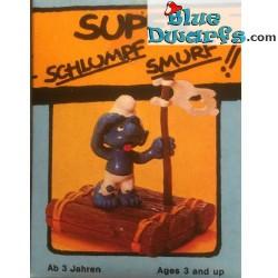 40246: Schlumpf auf Floß (Super Schlumpf/ MIB)