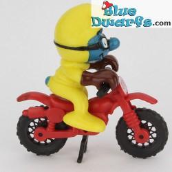 40231: Motorcross Smurf *yellow* (Supersmurf)