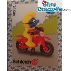 40231: Motocross Fahrer Schlumpf *gelb* (Superschlumpf)