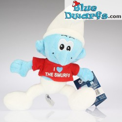 Smurf Plush 3: I Love the smurfs (red) +/- 20 cm
