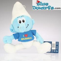 Smurf Plush 2: I Love Brussels (blue) +/- 20 cm