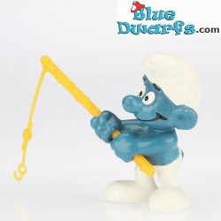 20101: Angler Smurf (darkbrown fishing rod)