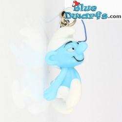 11 x Plastic smurf pendant (+/- 2,5 cm)