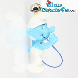 Grouchy smurf Plastic smurf pendant (+/- 2,5 cm)
