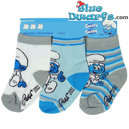 3 pair Smurf children socks (size 13-15)