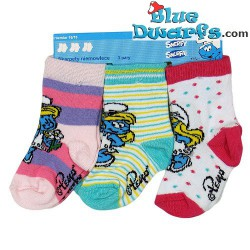 3 paar Smurfen kinder sokken (maat 16-18)