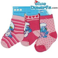 3x Chaussettes enfants: Les schtroumpfs (taille: 13-15)