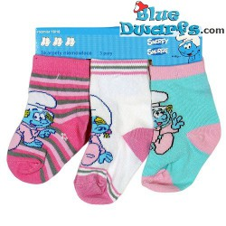 3 paar Smurfen kinder sokken (maat 13-15)