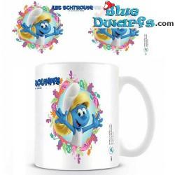 Smurfette and papa smurf mug (23,7 cl)