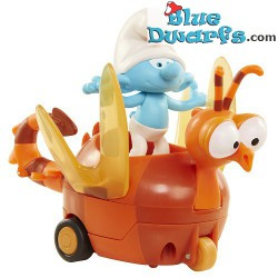 Clumsy smurf and Spitfire (Smurfs 3: The lost village) *Jakks Pacific *