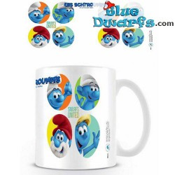 1 x The lost village smurf mug/ LES SCHTROUMPFS: SMURFS UNITED (32,5 cl)