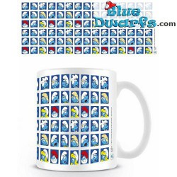 "1 x The lost village smurf mug: ""SMURF PATTERN"" (32,5 cl)"
