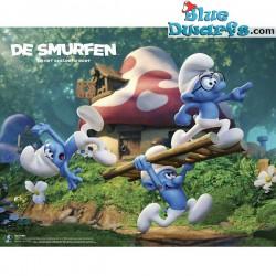 1 x The lost village smurf poster HET VERLOREN DORP (40x50cm)