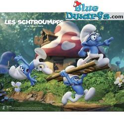 1 x The lost village smurf poster VILLAGE PERDU (40x50cm)