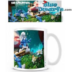 1 x The lost village smurf mug/ VERLOREN DORP  (32,5 cl)