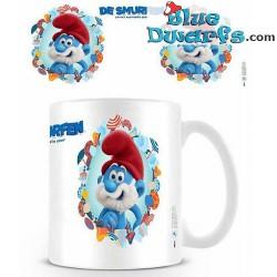 1 x The lost village smurf mug/ VERLOREN DORP: Papa smurf  (32,5 cl)