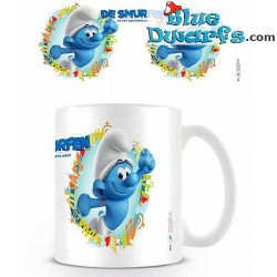 1 x The lost village smurf mug/ VERLOREN DORP: Hefty Smurf (32,5 cl)