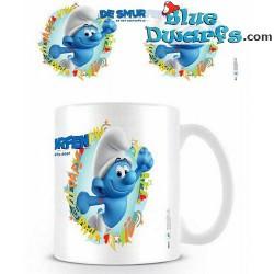 1 x The lost village smurf mug/ VERLOREN DORP: Hefty Smurf (32,5 cl)
