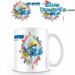 1 x The lost village smurf mug/ VERLOREN DORP: Smurfette (32,5 cl)