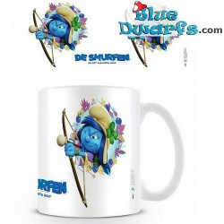 1 x The lost village smurf mug/ VERLOREN DORP: Smurfstorm (32,5 cl)