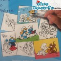 Smurf painting set with 8 colouring posters (27.5x21 cm)