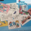 Smurf painting set with 12 colouring posters (42x 27.5cm)