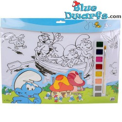 Smurf painting set with 8 colouring posters (42x 27.5cm)